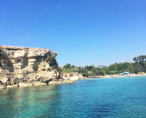 bucht von fontane bianche hotel direkt am meer, in sizilien bei syrakus, sizilien urlaub, in syrakus, hotel am meer strandurlaub in siracusa fontane bianche