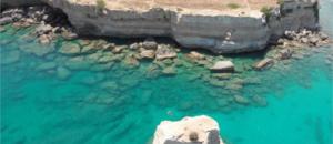 Sizilien Urlaub, baden an der Küste von Fontane Bianche bei Syrakus